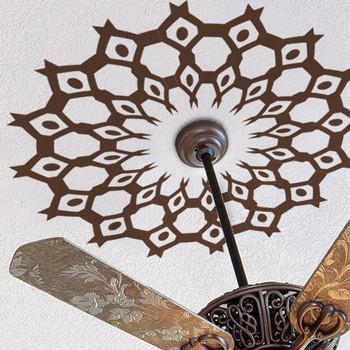 Ceiling Medallion Decal Tribal Ethnic Decor Web Aztec 02 www.ameridecals.com