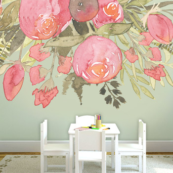 Nursery Decor - Girl nursery wall decals- flower mural peonies Southern Charm by American Decals