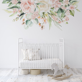 Katie May Wall Decal Watercolor Flowers Nursery Décor