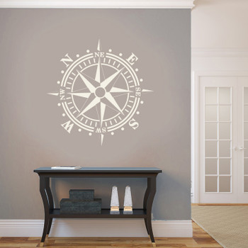 Wall Compass Rose Decal Nautical Decor
