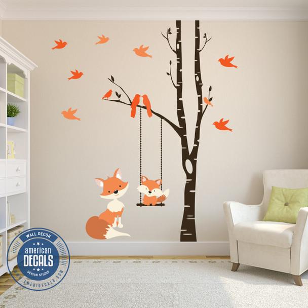 Baby Fox Wall Decal Woodland Nursery www.AmeriDecals.com