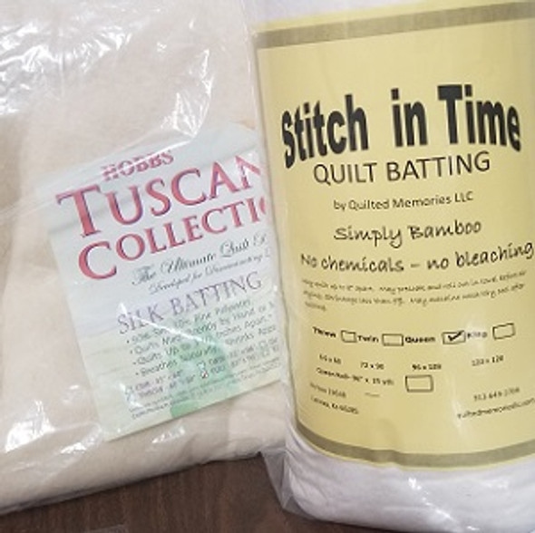 Tuscany Silk and Simply Bamboo quilt batting duo