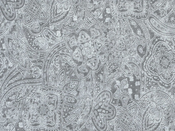 Light Gray Paisley Wide Quilt Backing Fabric