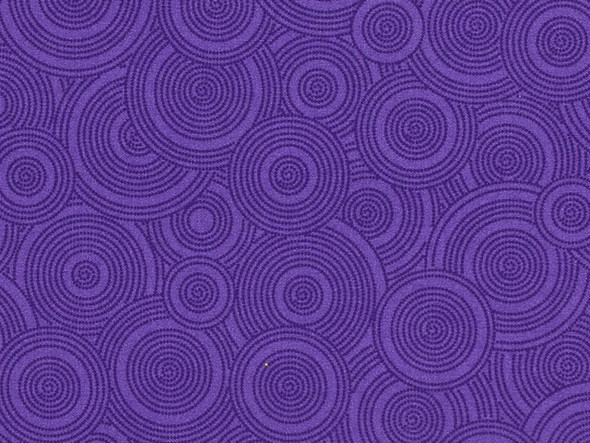 108in  Wide Quilt Backing Fabriic Purple w/ circles