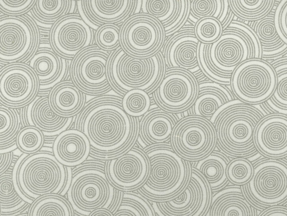 Light Gray Circles Wide Back Quilt Backing