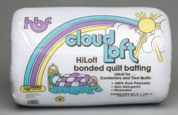 CF120 Cloud Loft Polyester Quilt Batting (Package, King 120 in. x 120 in.)shipping included*