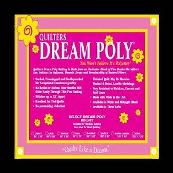 Dream Black Polyester Quilt Batting Twin (Package, Twin 72 in. x 93 in.)