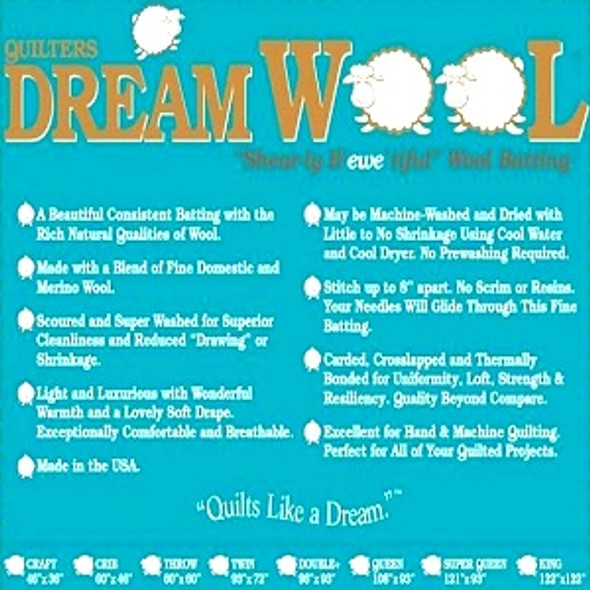 Quilters Dream Wool Quilt Batting by the roll