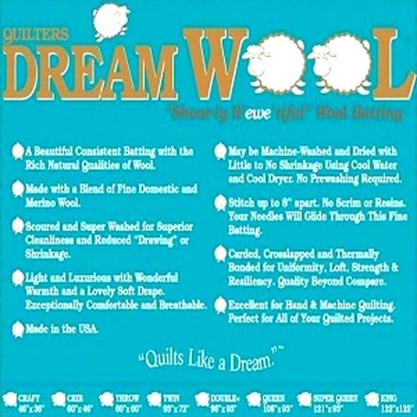 Quilters Dream Wool Quilt Batting