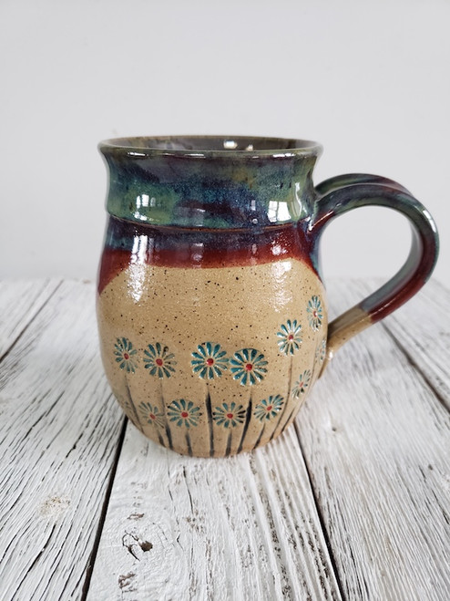 Daisies in Green Mug