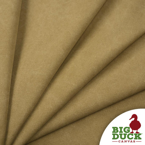 Stone Washed Canvas Wheat Cotton Discount Fabric Rolls Tan Color