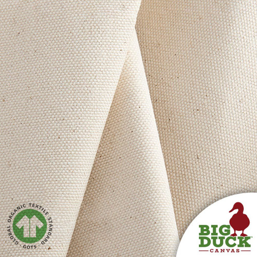 Organic, Natural Cotton Canvas Duck Cloth, Wholesale Rolls/Yards
