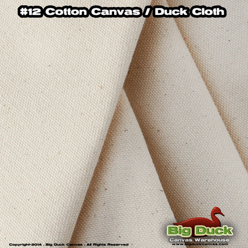 """#12/72"""" Wide Cotton Canvas Fabric / Duck Cloth - NATURAL"""