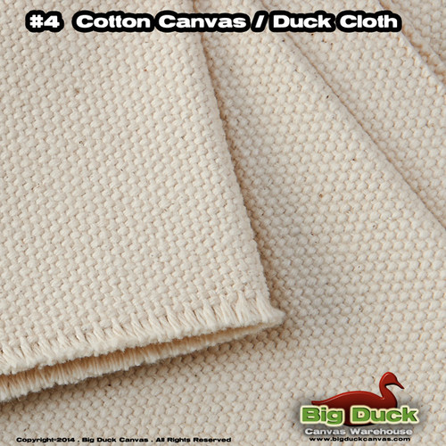 #4 Cotton Canvas Fabric / Duck Cloth (24oz) - NATURAL Military and Federal Standards CCC-C-419G