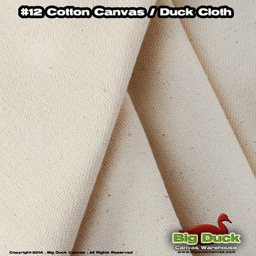 "#12/96"" Cotton Canvas Fabric / Duck Cloth (11.5oz) - NATURAL"