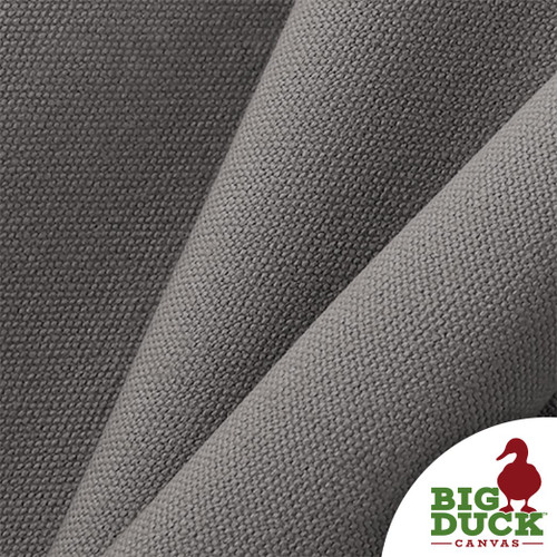 #8 Cotton Canvas Fabric / 18oz Heavyweight Cotton Duck Cloth (Grey/Gray)