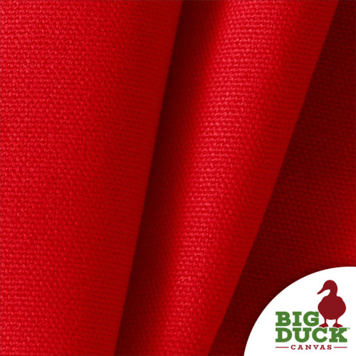RED 100% Cotton Canvas Duck Wholesale Preshrunk USA Made