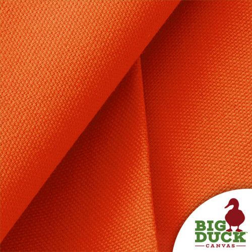 Orange Cotton Canvas 10oz Duck Wholesale US Made Material