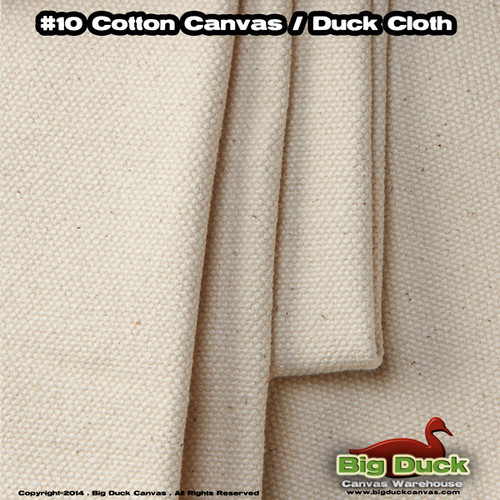 "#10/84"" Cotton Canvas Fabric / Duck Cloth (15oz) - NATURAL"