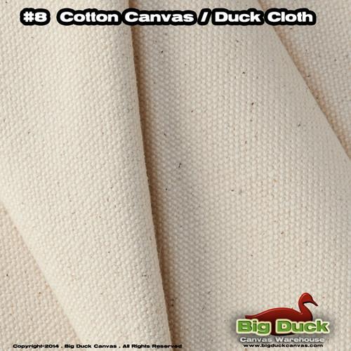 "#8/48"" Cotton Canvas Fabric / Duck Cloth (18oz) - NATURAL"