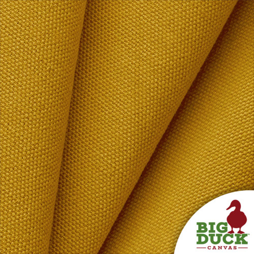 Gold Cotton Canvas Preshrunk 10oz USA Fabric Folded Sample Yard