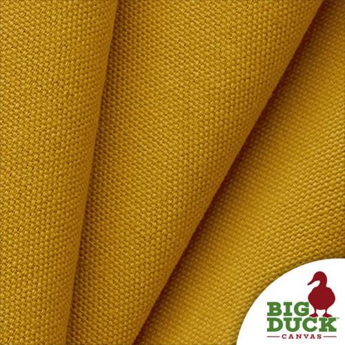 Gold Cotton Canvas Preshrunk 10oz USA Fabric Folded Sample Yard