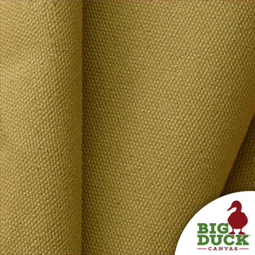Preshrunk US Fabric 10oz Cotton Canvas Duck in Khaki Dyed Color