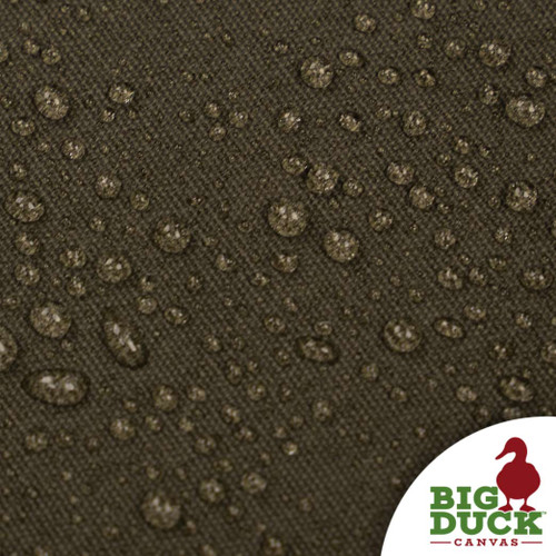 water repellent fabric cotton canvas waxed olive drab