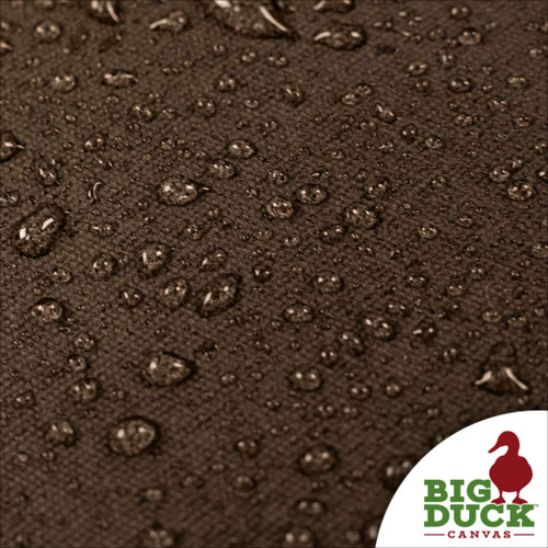 water repellent fabric cotton canvas waxed chocolate (dark brown)