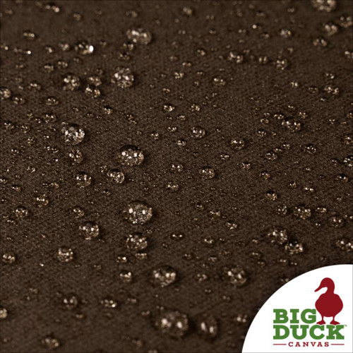 water repellent fabric cotton canvas waxed dark oak (brown)