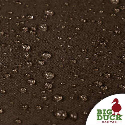 water repellent fabric cotton canvas waxed dark oak (brown)