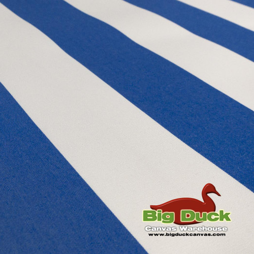 SeaDuck Marine Awning Outdoor Fabric Blue/White Stripes