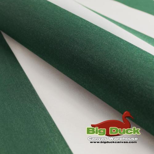 SeaDuck Marine Awning Outdoor Fabric Green/White Stripe Yard/Rolls