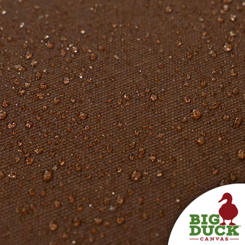 water repellent fabric cotton canvas waxed pecan (medium brown)