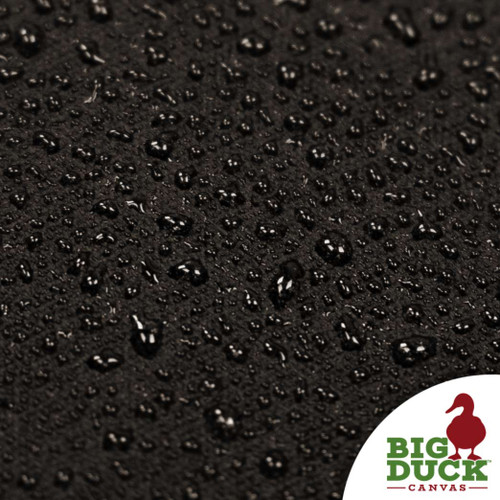 water repellent fabric cotton canvas waxed black