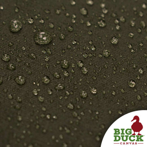 water repellent fabric cotton canvas waxed forest green