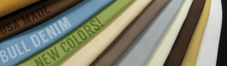 Cotton Bull Denim Fabric USA Made New 2019 Colors