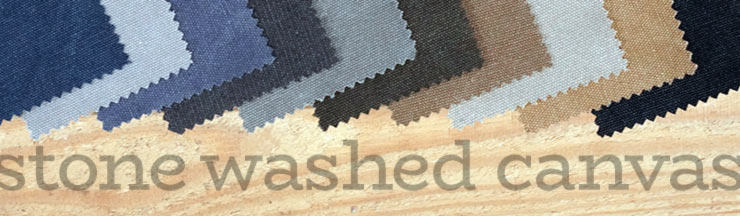 Stone Washed Canvas Cotton Blend Discount Priced Yard or Rolls