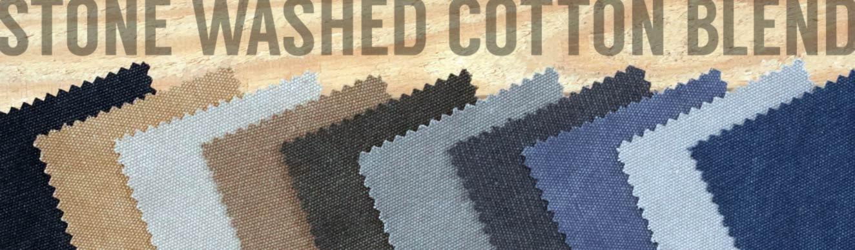 Stone Washed Canvas-Cotton Blend Sale