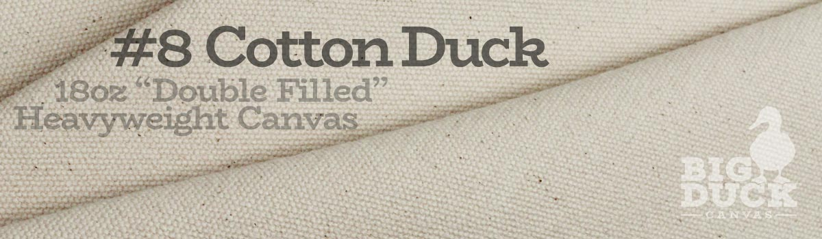 Number 8 Cotton Duck Cloth Natural Canvas Heavyweight Fabric