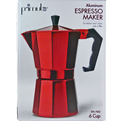 Stovetop Espresso Coffee Maker 6 Cup Red