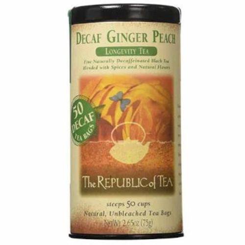 Republic Decaf Ginger Peach Black Tea Bags 50ct.