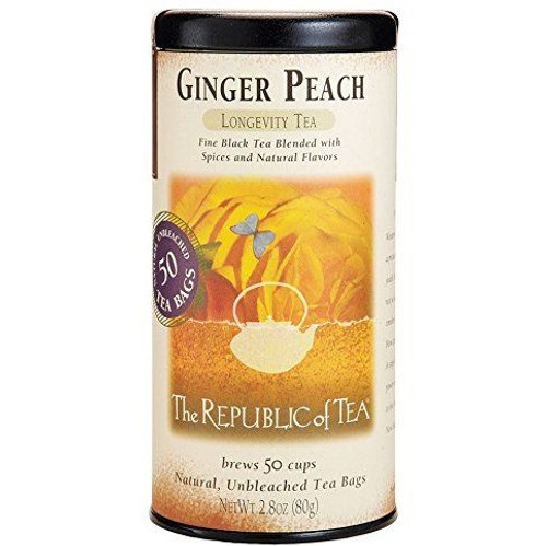 Republic Ginger Peach Black Tea Bags 50ct.