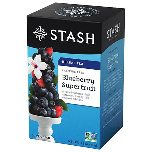 Stash Blueberry Superfruit Herbal Tea Bags 20ct.