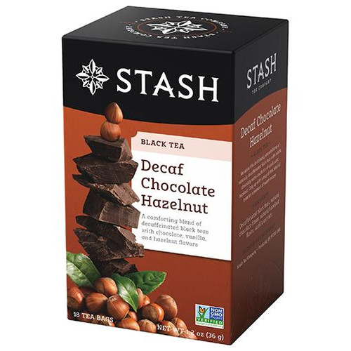 Stash Decaf Chocolate Hazelnut Tea Bags 18ct.