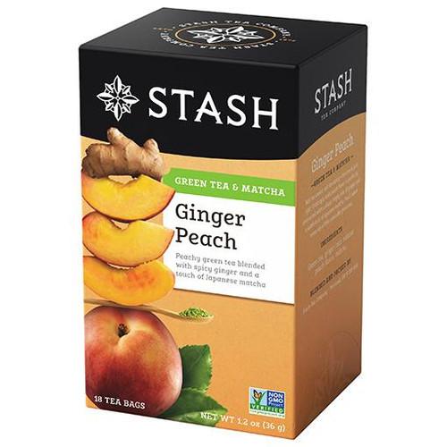 Stash Ginger Peach Green Tea Bags 18ct.