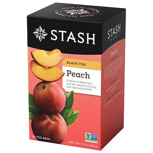 Stash Peach Black Tea Bags 20ct.