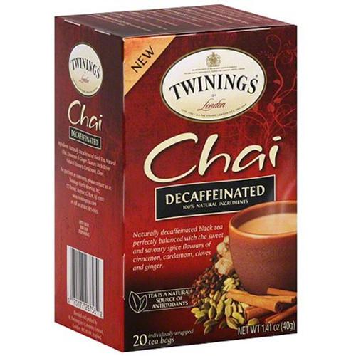 Twinings Decaf Chai Tea Bags 20ct.