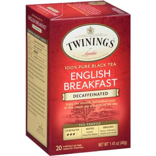 Twinings Decaf English Breakfast Tea Bags 20ct.