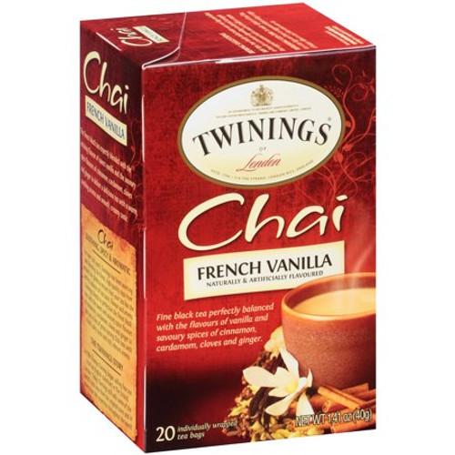 Twinings French Vanilla Chai Tea Bags 20ct.